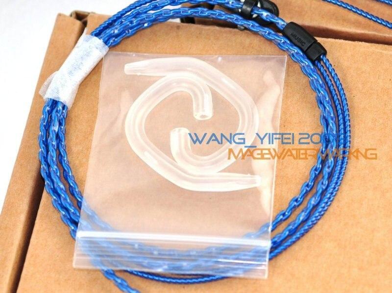 Mise à niveau artisanale écouteurs argent plaqué OFC câble pour SENNHEISER IE8 IE80 IE8i avec crochet d'oreille casque écouteur fil Audio