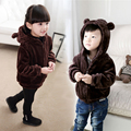 2016 Autumn and Winter Children's Clothing Baby Boys Girls Bear Ears Double Faced Villus Kids Fleece Warm Outerwear