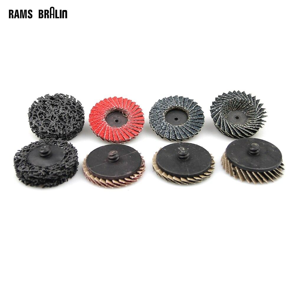 40 шт. 2 /50 мм Roloc Clean & Газа шлифовальный диск для металла Краски удаления ржавчины + 1 шт. держатель отправлен