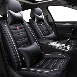 Image 2 - Housses de siège de voiture en cuir PU, housses de siège pour Renault, pour accoudoir, clio duster fluence kadjar kaptur koleos latitude, haute qualité