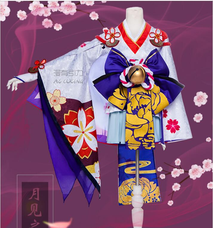 Cosplay anime Gravitational COS Snow girl see the cherry Women's clothes complete set