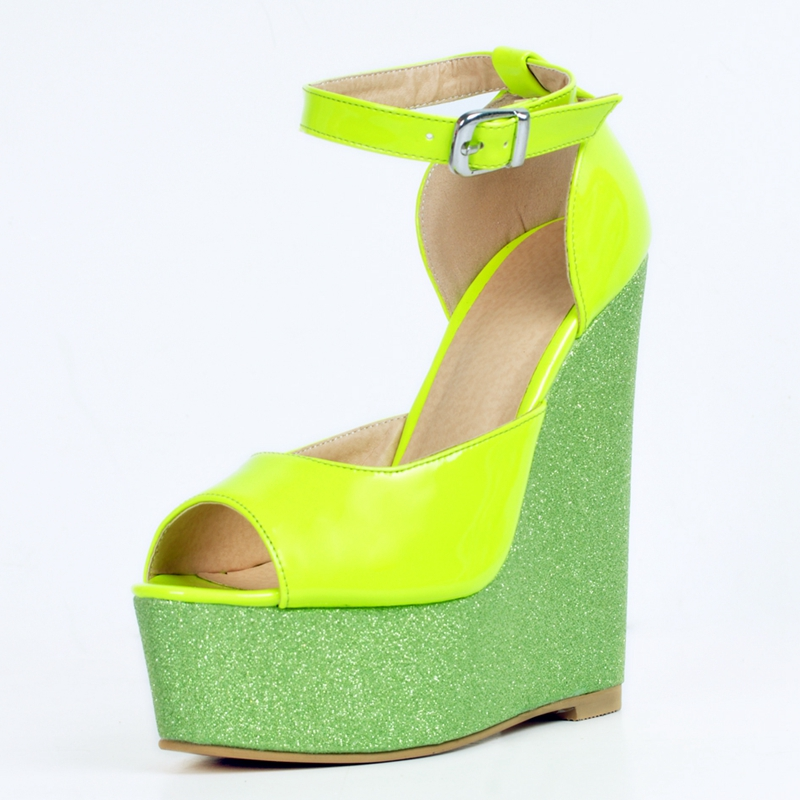 Compare Prices on Green Wedge Sandals- Online Shopping/Buy Low