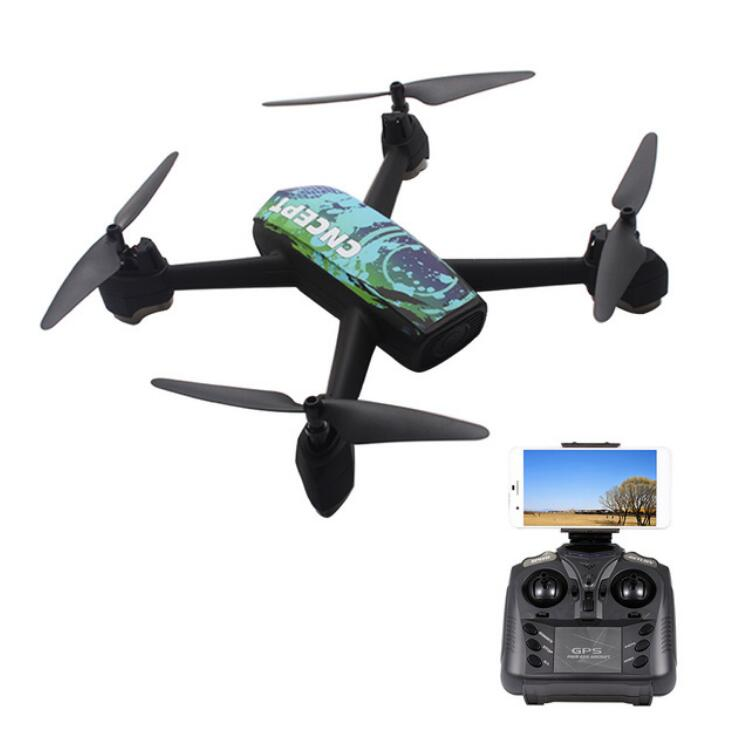 JXD 518 2.4G 720P RC <font><b>Drone</b></font> with Camera Wifi <font><b>FPV</b></font> GPS Positioning Altitude Hold RC Quadcopter LED Light Remote Control Helicopter image
