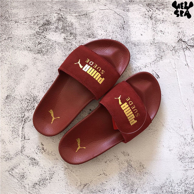 b2a438b9a99d4e 2018 New PUMA Unisex PUMA Men s Women s Leadcat Suede Slide Classic  Waterproof Beach Slippers Size 35.5-44