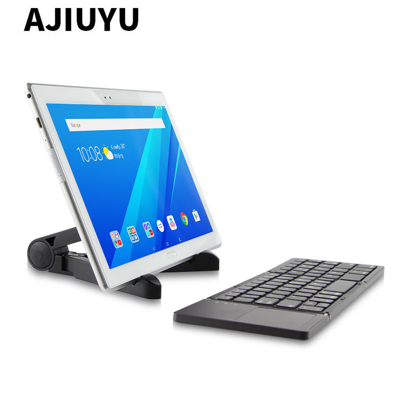 Three folded wireless Bluetooth Keyboard For Lenovo Ideapad MIIX 310 320 Miix310 Miix320 Miix325 miix210 10.1 Tablets PC Case case sleeve for lenovo ideapad miix 310 320 miix310 miix320 miix325 miix210 10 1inch tablet protective cover pu leather pouch
