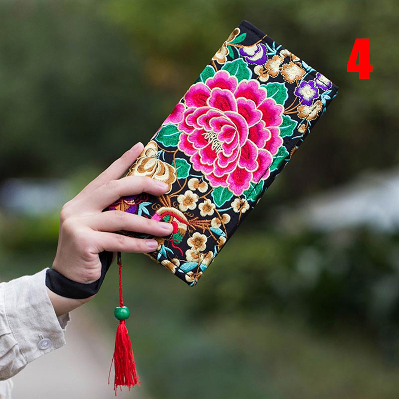 New Women Flowe Retro Handbag Ethnic Embroidery Coin Purse Canvas bag FA$1