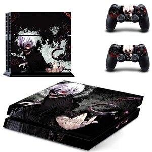 Image 2 - أنيمي طوكيو Ghouls PS4 الجلد ملصق مائي الفينيل لسوني بلاي ستيشن 4 وحدة التحكم و 2 تحكم PS4 الجلد ملصق