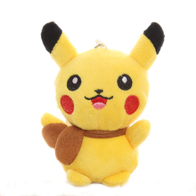 13CM Plush Stuffed Toy Pikachu HOT Gift Plush Toy Doll Pikachu Pendant Gift Toy Doll  Picacho J0003