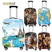 world map / animal print thick luggage cover Travel Accessories elastic suitcase cover travel Trolley Case protective Covers(China)