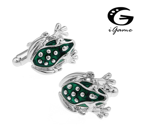 IGame Factory Supply Frog Cufflinks For Men Unique Frog Design Free Shipping