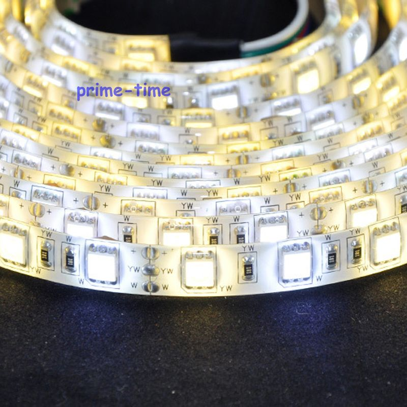 5M 5050 300leds Dual White warm white + cool white Waterproof CCT LED Strip Light Color Temperature Ajustable DC12V ...