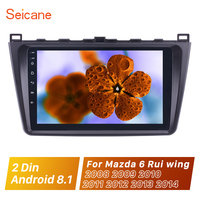 Seicane 9 2Din WIFI GPS Navi Car Radio Android 8.1 Multimedia Player Stereo for 2008 2009 2012 2013 2014 2015 Mazda 6 Rui wing