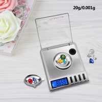 Yieyri-báscula electrónica Digital de 0.001-20g, 0.001X20g, Mini Digital de bolsillo, joyería, diamante, peso portátil
