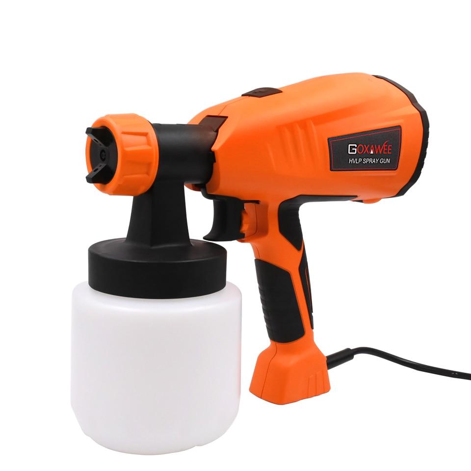 GOXAWEE 220V 400W Electric Paint Spray Gun Airless HVLP Paint Mini Sprayer Gun For Painting Cars Wood Furniture Wall Woodworking|Spray Guns| |  - title=