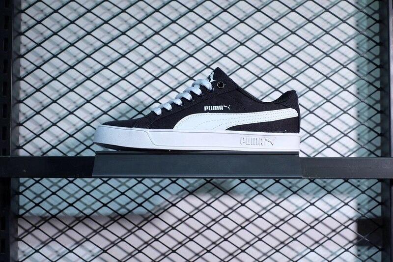 Puma shoes PUMA SMASH VULC CV Men and women same size Canvas shoes black  and white men women shoes size 36 44-in Badminton Shoes from Sports    Entertainment ... a16efcedf