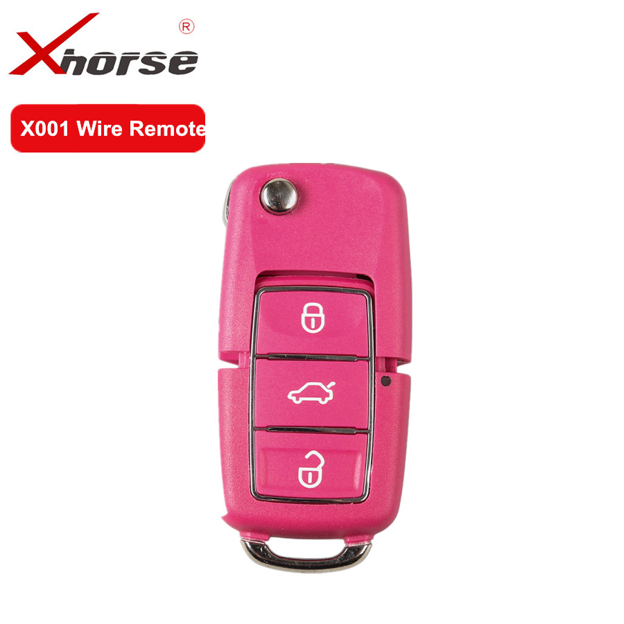 Xhorse X001 Wire Remote Key For V-W B5 Style 3 Buttons Red Color Work For VVDI2 And VVDI Key Tool