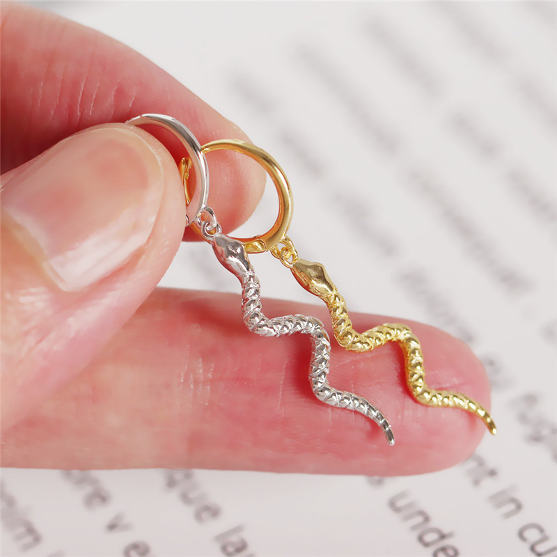 Women's Earrings 925 Sterling Silver Snake Earrings Fashion Glamour Wedding Engagement To Girlfriend Animal Jewelry Gifts