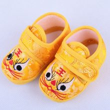 Chinese Style Newborn Girl Boy Cartoon Warm Boots Casual Sneakers Toddler Soft Soled Crib Shoes 2019 Newly Baby Shoes Winter W(China)