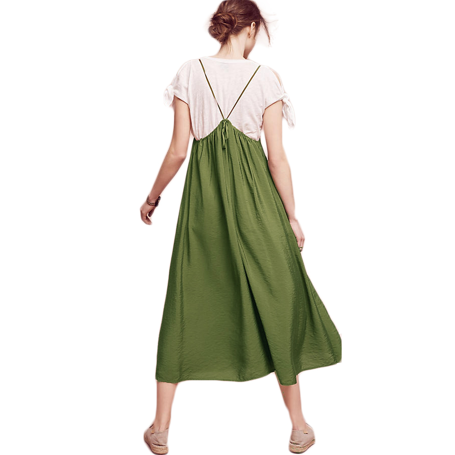 d9d28c1ee7 RichLuLu Green Suspender Jumpsuit Women Vintage Casual Basic Playsuit  Female Loose Summer Tie Fashion Ladies Jumpsuit-in Jumpsuits from Women s  Clothing on ...