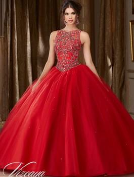 2f4f4cf4f77 Vestidos de 15 años de tul rojo vestido de Quinceanera Vestidos 2019 barato Vestidos  Quinceanera dulce 16 Vestidos debutantes vestido