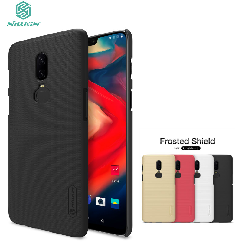 Phone Case for Oneplus 6 NILLKIN Frosted Shield Back Cover for One plus 6 Hard PC Matte Case with Retail packaging for Oneplus6
