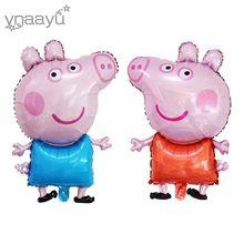 Ynaayu 1 pcs Pouco Balão Da Folha de Porco Bonito Brinquedo Porco George Balões de Ar Balões de Festa & Decoração De Aniversário das Crianças para o Partido