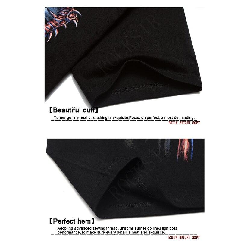 Rocksir 2018 Summer Style Fashion Men T Shirt Camiseta negra Camiseta - Ropa de hombre - foto 4