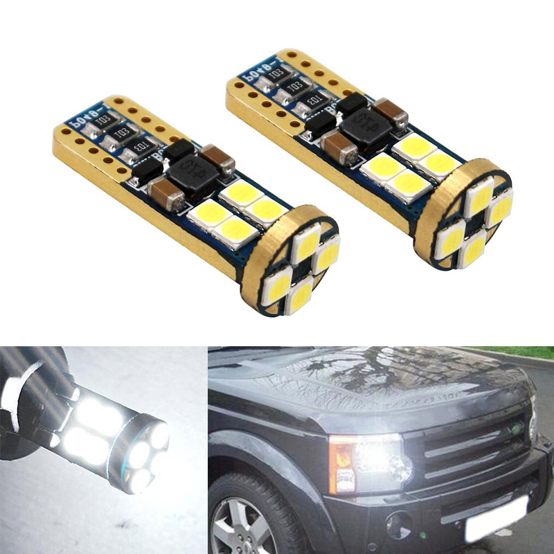 2x Canbus T10 W5W 168 194 LED Clearance Parking Lights For Land Rover v8 discovery 4 2 3 x8 freelander 2 defender A8 a9