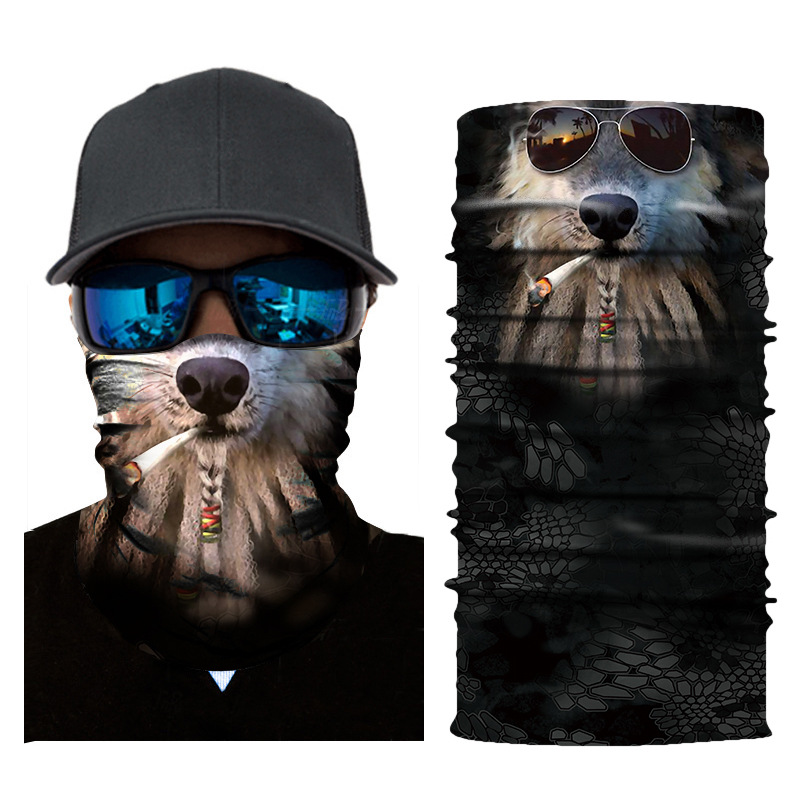 Windproof Seamless 3D Animals Face Mask Bandana for Riding Cycling Motorcycle Cold Weather Multifunctional Headwear Tube Mask in Motorcycle Face Mask from Automobiles Motorcycles