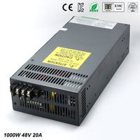 Universal48V 20A 1000W Regulated Switching Power Supply Transformer100 240V AC to DC For LED Strip Light Lighting CNC CCTV MOTOR