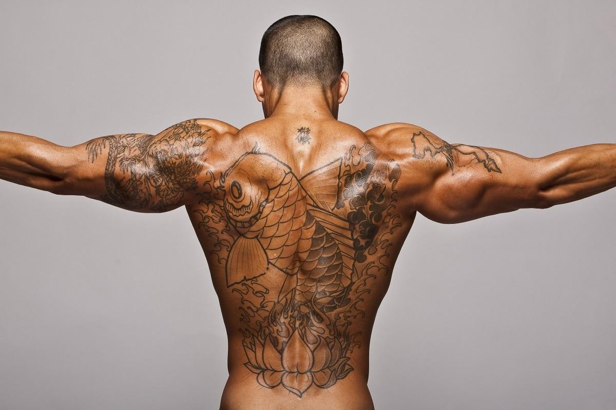 bodybuilding man muscle sports training tatoo KB755 living room home wall modern art decor wood frame fabric posters prints