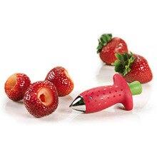 1 шт. металлический томатный стебель клубники Huller, пластиковый нож для фруктов и листьев, гаджет для удаления клубники, кухонные гаджеты, инструмент