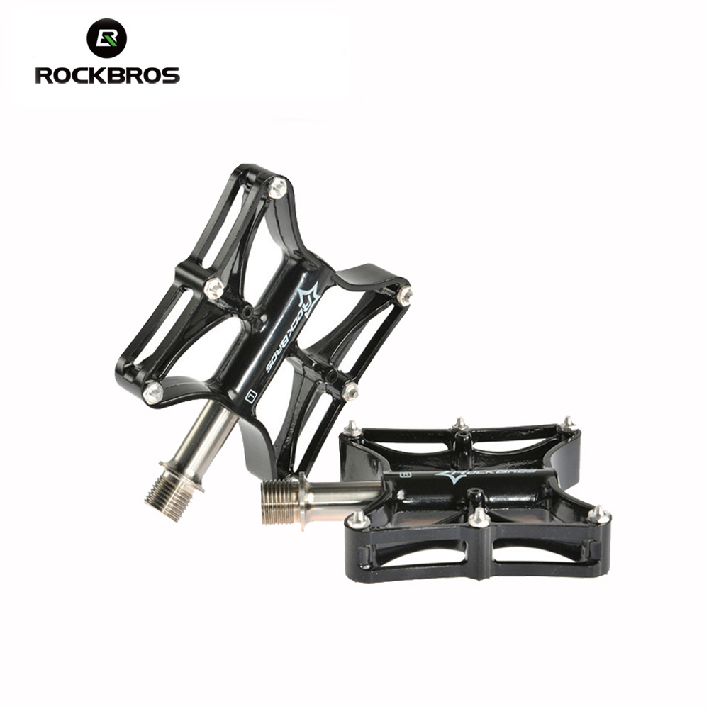 RockBros Bike MTB Magnesium Pedals Platform CNC Steel Axle /Titanium Axle /Magnesium Ouriding Bike Parts Platform Bike Pedal rockbros 9 16 magnesium alloy bicycle pedal titanium spindle ultralight mountain bike pedal 5 colors