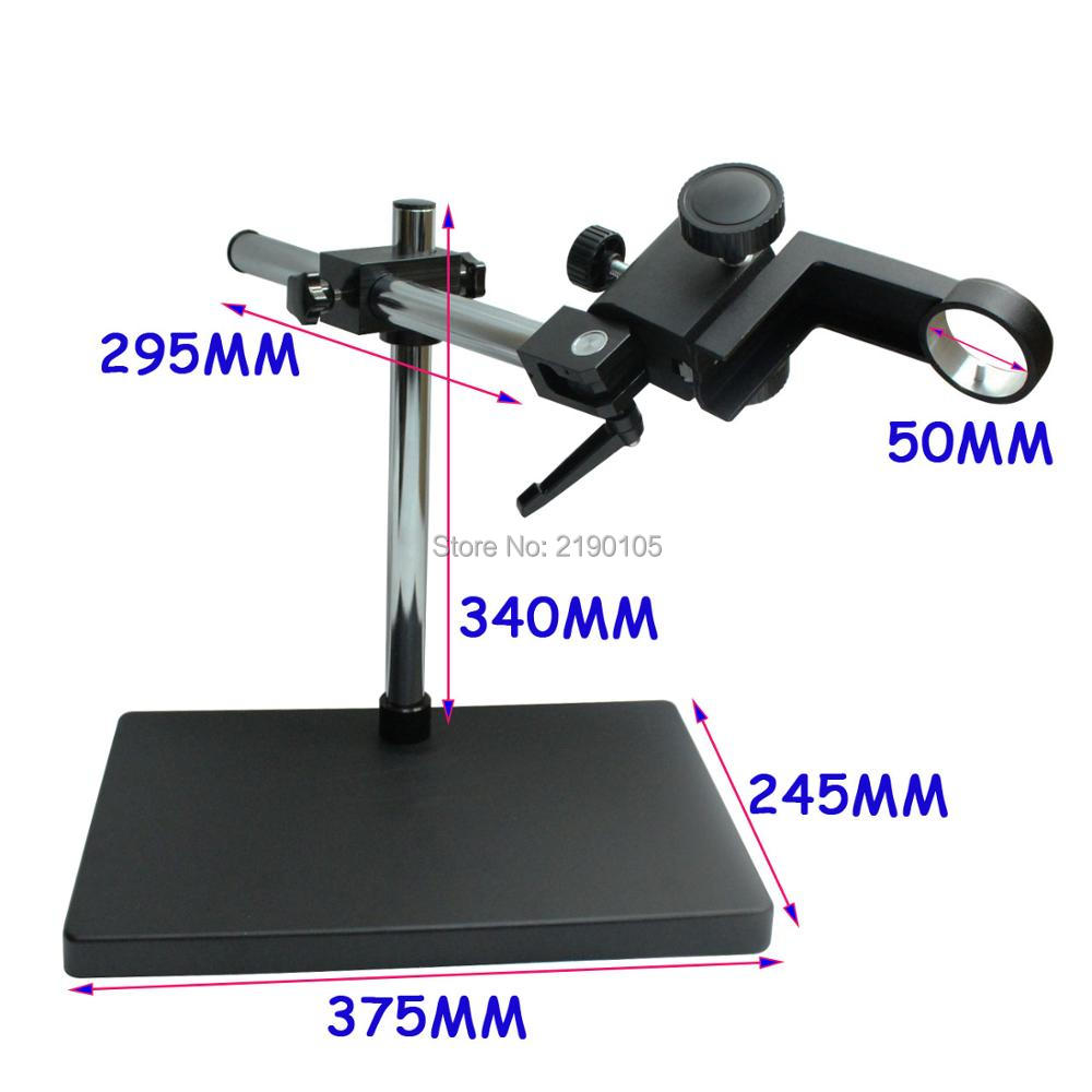 50mm Big Size Large Dual-arm Heavy Duty Boom Stereo Metal Table Stand Ring Holder For Lab Microscope Digital Industry Camera factory direct sale industry microscope stand lcd digital microscope camera arm holder size 50mm