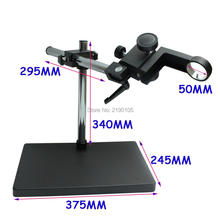 Cheapest prices 50mm Big Size Large Dual-arm Heavy Duty Boom Stereo Metal Table Stand Ring Holder For Lab Microscope Digital Industry Camera