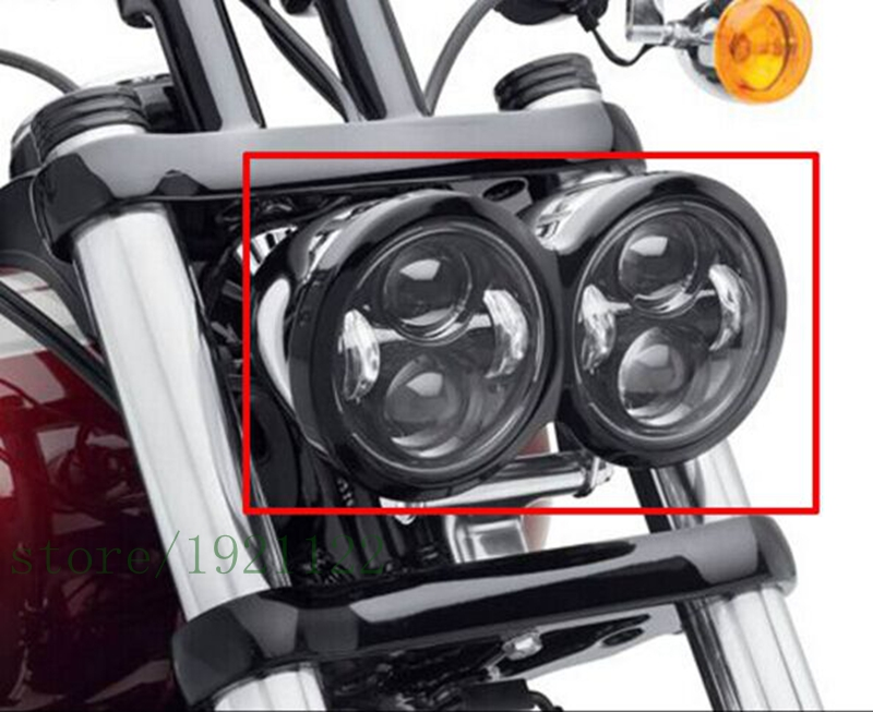 New LED Headlamps For Harley Dyna Fat Bob FXDF Model Daymaker Projector LED Lamps Daymaker Fat Bob Motorcycle Led Headlights harley davidson headlight price