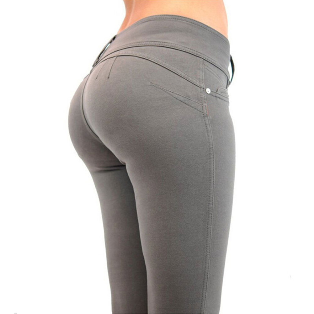 Women's Clothing 100% True Fashion Women Honey Peach Push Up Hip Stretch Skinny Leg Casual Solid Butt Lifting Jeans Elastic Sexy Pencil Pants Trousers 100% High Quality Materials Jeans