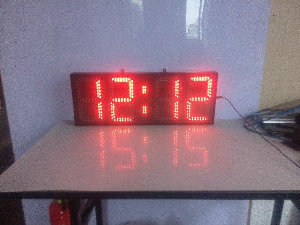 Velké digitální LED nástěnné hodiny Domácí dekorace, koordinovaný univerzální čas / GPS automatická korekce samočinně nastavitelná