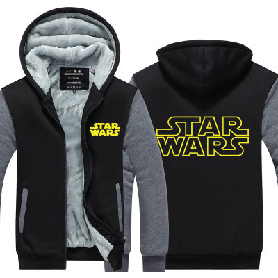 Anime Star Wars The Last Jedi Coat Jacket Winter Men Thick Zipper Sweatshirt
