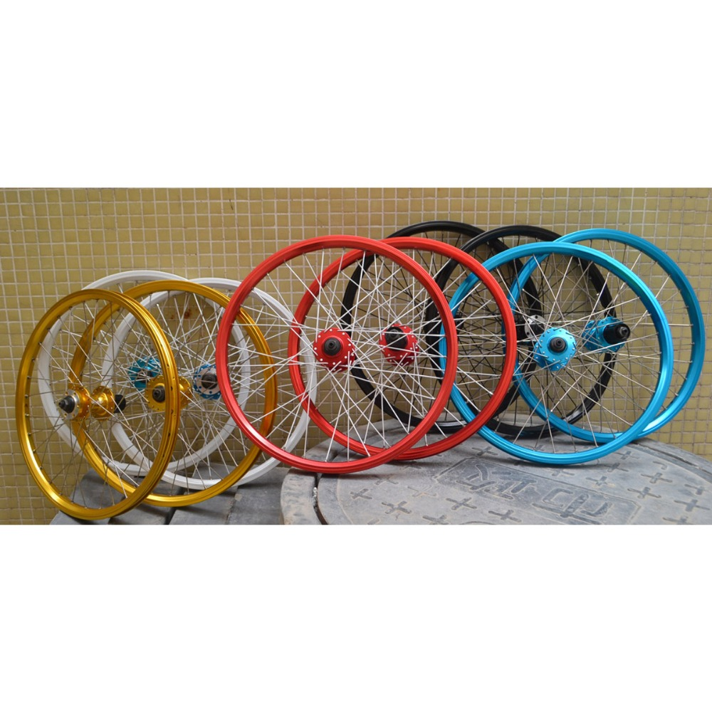 20 inch MTB Mountain Bikes Bicycles Wheelset wheel Rim 32 Hole Quick release hub Disc Brake wheel-in Bicycle Wheel from Sports & Entertainment    1