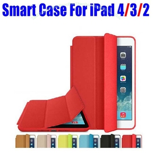 1PC Brand New official Fashion Smart Case For Apple iPad 4/3/2 Ultra thin Filp Cover Case + Screen Film NO: I4001