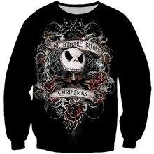 цена на PLstar Cosmos Women/Men The Nightmore Before Christmas 3d Print Sweatshirts Pullover O-neck Long Sleeve Sweatshirt Unisex Tops