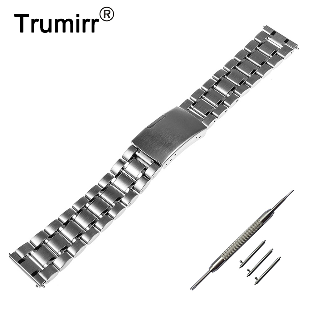 18mm 20mm 22mm Quick Release Watch Band for Tissot 1853 T035 / <font><b>PRC</b></font> <font><b>200</b></font> T055 / T097 Stainless Steel Strap Wrist Bracelet + Tool image