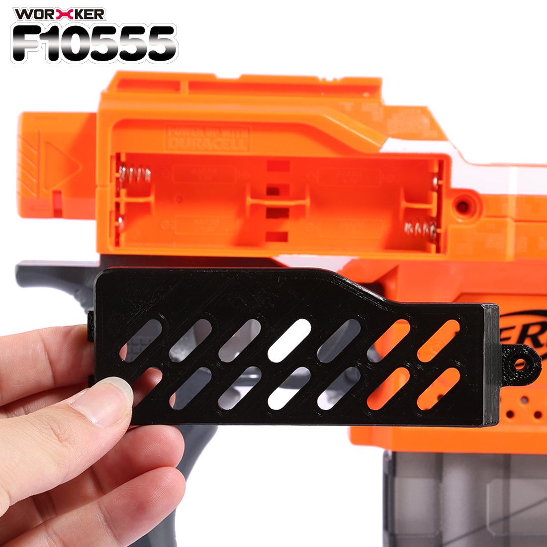 WORKER F10555 3D Printed Extended Battery Cover For Nerf Stryfe