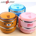 High Quality PP+Stainless SteelCartoon Lunch Box Microwave Oven Bento Container Case Dinnerware Children's Tableware 3 Color