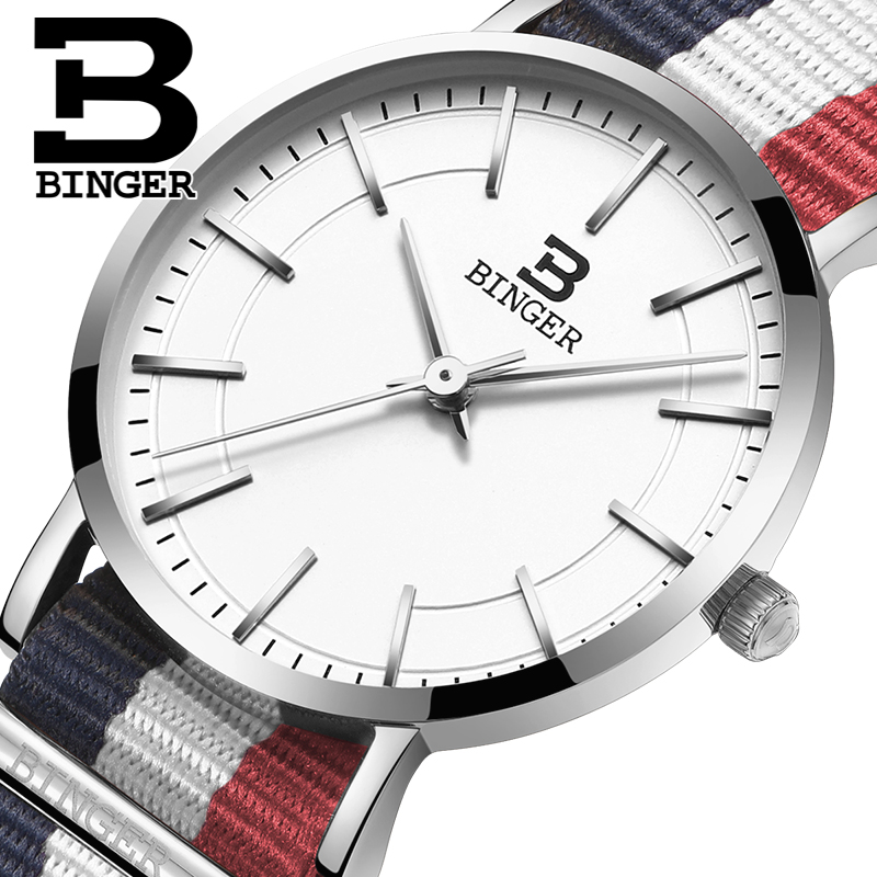 Switzerland BINGER Womens watches luxury brand ultrathin limited edition Waterproof loverss quartz Wristwatches B-3050W-11Switzerland BINGER Womens watches luxury brand ultrathin limited edition Waterproof loverss quartz Wristwatches B-3050W-11