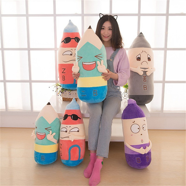 60 см, 70 см Аниме Мультфильм подушку плюшевые игрушки куклы куклы выражение творческой милый капсула Июня цилиндрические подушки подушки