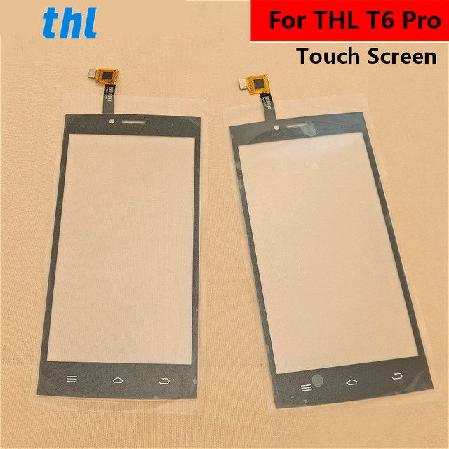 For THL T6 Pro Touch Screen Front Glass Touchpad Replacement Outer Panel Lens Cover Repair Part