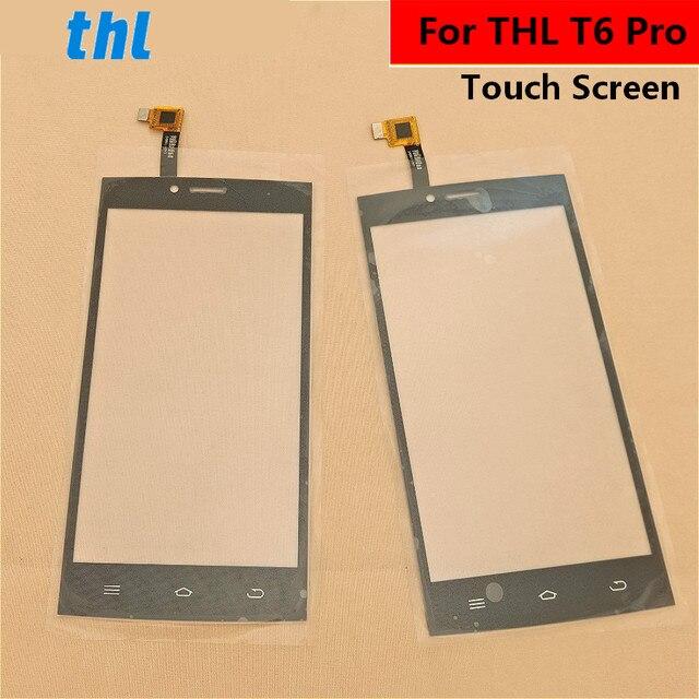 Para thl t6 pro tela sensível ao toque de vidro frontal touchpad substituição exterior painel lente capa reparação parte