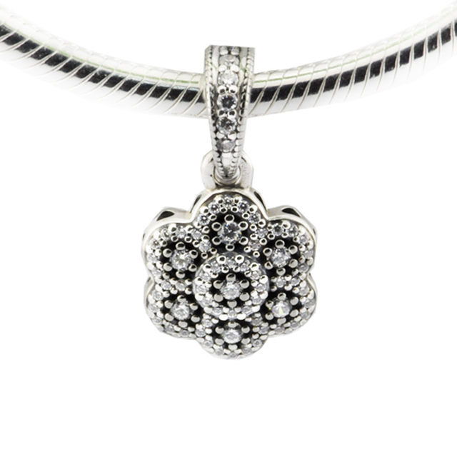 Fits pandora bracelet crystallised floral necklace pendant charm 100 fits pandora bracelet crystallised floral necklace pendant charm 100 925 sterling silver diy christmas gift aloadofball Images